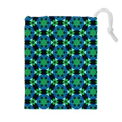 Background Star Colour Green Blue Drawstring Pouches (extra Large) by AnjaniArt