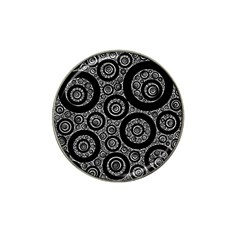 Selected Figures From The Paper Circle Black Hole Hat Clip Ball Marker (4 Pack) by AnjaniArt
