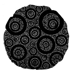 Selected Figures From The Paper Circle Black Hole Large 18  Premium Flano Round Cushions