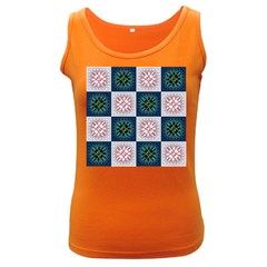 Background Colour Flower Box Women s Dark Tank Top