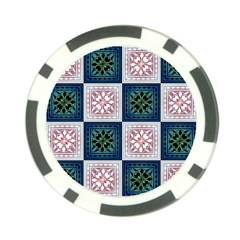 Background Colour Flower Box Poker Chip Card Guard (10 Pack)