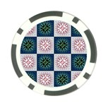 Background Colour Flower Box Poker Chip Card Guard (10 pack) Front