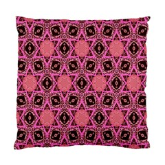 Background Colour Star Pink Flower Standard Cushion Case (one Side) by AnjaniArt
