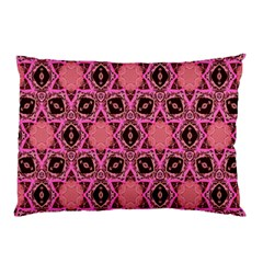 Background Colour Star Pink Flower Pillow Case (two Sides) by AnjaniArt
