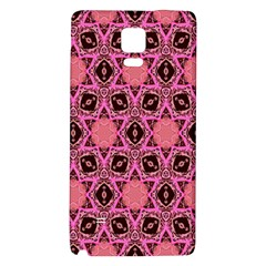 Background Colour Star Pink Flower Galaxy Note 4 Back Case by AnjaniArt