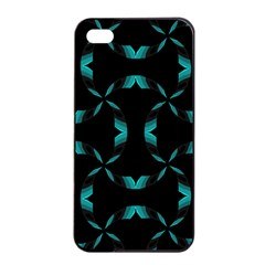 Background Wave Blue Apple Iphone 4/4s Seamless Case (black)