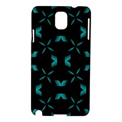 Background Wave Blue Samsung Galaxy Note 3 N9005 Hardshell Case by AnjaniArt