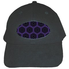 Background Colour Purple Circle Black Cap by AnjaniArt