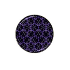 Background Colour Purple Circle Hat Clip Ball Marker (4 Pack) by AnjaniArt