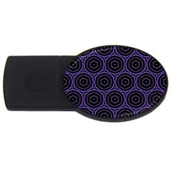Background Colour Purple Circle Usb Flash Drive Oval (4 Gb) by AnjaniArt