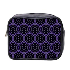 Background Colour Purple Circle Mini Toiletries Bag 2 Side by AnjaniArt