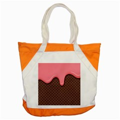 Ice Cream Accent Tote Bag by Brittlevirginclothing
