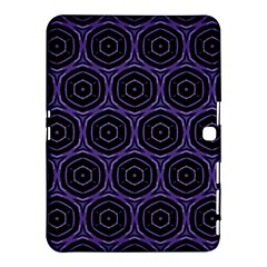 Background Colour Purple Circle Samsung Galaxy Tab 4 (10 1 ) Hardshell Case  by AnjaniArt