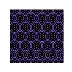 Background Colour Purple Circle Small Satin Scarf (square) by AnjaniArt