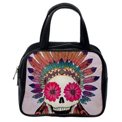 Tribal Hipster Colorful Skull Classic Handbags (one Side) by Brittlevirginclothing