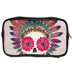 Tribal Hipster Colorful Skull Toiletries Bags 2 Side by Brittlevirginclothing