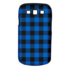 Black Blue Check Woven Fabric Samsung Galaxy S Iii Classic Hardshell Case (pc+silicone)
