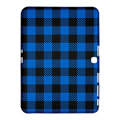 Black Blue Check Woven Fabric Samsung Galaxy Tab 4 (10 1 ) Hardshell Case  by AnjaniArt