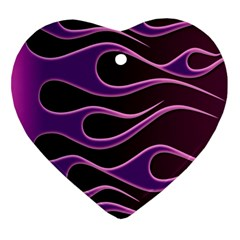 Bright Purple Flag Heart Ornament (two Sides) by AnjaniArt