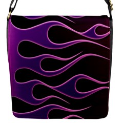 Bright Purple Flag Flap Messenger Bag (s) by AnjaniArt