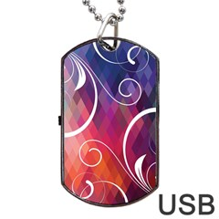 Brushes Chevron Dog Tag Usb Flash (one Side) by AnjaniArt