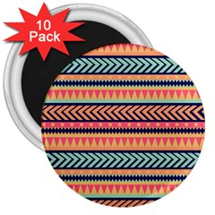 Chevron Wave 3  Magnets (10 Pack)