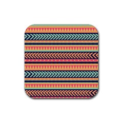 Chevron Wave Rubber Square Coaster (4 Pack)  by AnjaniArt