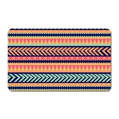 Chevron Wave Magnet (rectangular) by AnjaniArt