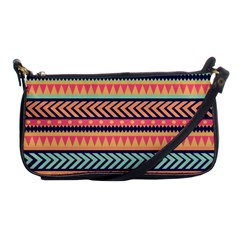 Chevron Wave Shoulder Clutch Bags by AnjaniArt