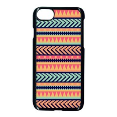 Chevron Wave Apple Iphone 7 Seamless Case (black) by AnjaniArt