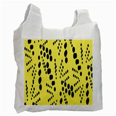 Circular Dot Selections Circle Yellow Recycle Bag (one Side)
