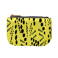 Circular Dot Selections Circle Yellow Mini Coin Purses by AnjaniArt