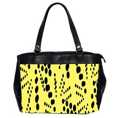 Circular Dot Selections Circle Yellow Office Handbags (2 Sides)  by AnjaniArt