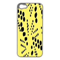 Circular Dot Selections Circle Yellow Apple Iphone 5 Case (silver) by AnjaniArt