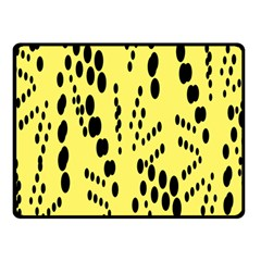 Circular Dot Selections Circle Yellow Double Sided Fleece Blanket (small)  by AnjaniArt