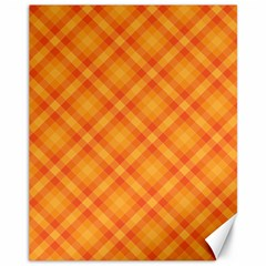 Clipart Orange Gingham Checkered Background Canvas 11  X 14