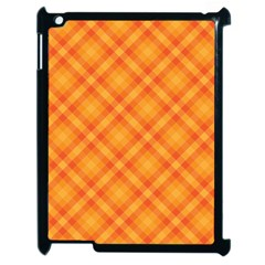 Clipart Orange Gingham Checkered Background Apple Ipad 2 Case (black)