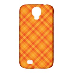 Clipart Orange Gingham Checkered Background Samsung Galaxy S4 Classic Hardshell Case (pc+silicone) by AnjaniArt