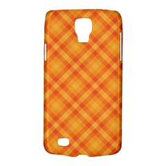 Clipart Orange Gingham Checkered Background Galaxy S4 Active by AnjaniArt