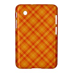 Clipart Orange Gingham Checkered Background Samsung Galaxy Tab 2 (7 ) P3100 Hardshell Case  by AnjaniArt