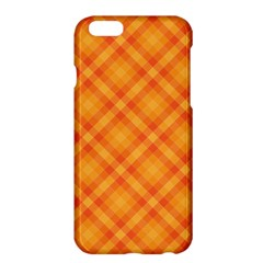Clipart Orange Gingham Checkered Background Apple Iphone 6 Plus/6s Plus Hardshell Case by AnjaniArt
