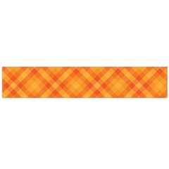 Clipart Orange Gingham Checkered Background Flano Scarf (large) by AnjaniArt