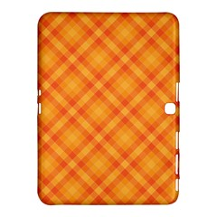 Clipart Orange Gingham Checkered Background Samsung Galaxy Tab 4 (10 1 ) Hardshell Case  by AnjaniArt