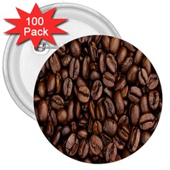 Coffee Beans 3  Buttons (100 Pack)