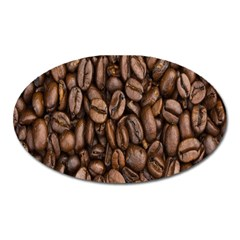 Coffee Beans Oval Magnet