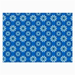 Blue Flower Clipart Floral Background Large Glasses Cloth by AnjaniArt