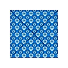 Blue Flower Clipart Floral Background Acrylic Tangram Puzzle (4  X 4 ) by AnjaniArt