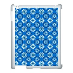 Blue Flower Clipart Floral Background Apple Ipad 3/4 Case (white)
