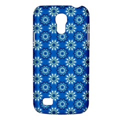 Blue Flower Clipart Floral Background Galaxy S4 Mini by AnjaniArt