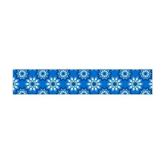 Blue Flower Clipart Floral Background Flano Scarf (mini)